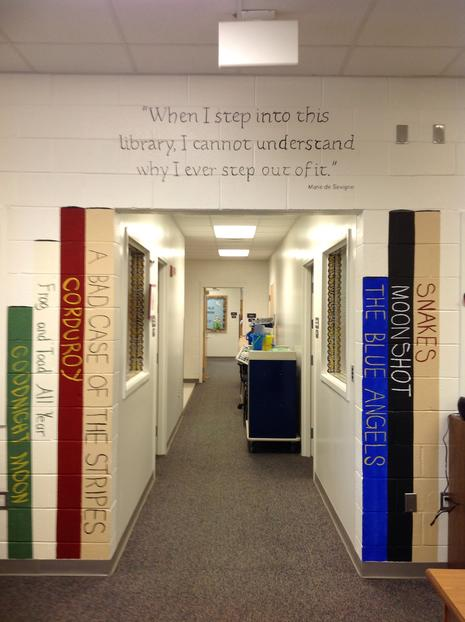 New library murals